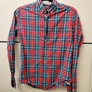 American Eagle Men's Plaid Shirt XS Prep Fit